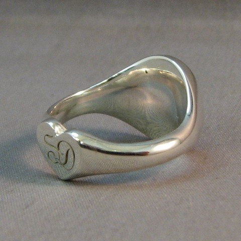 secret signet ring sterling silver