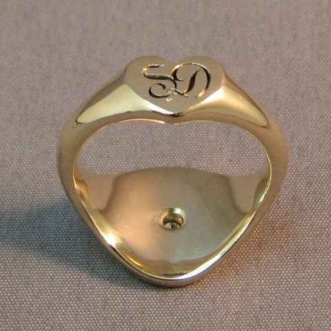 secret signet ring from sentimental gold