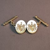 Coat Of arms chain link cufflinks